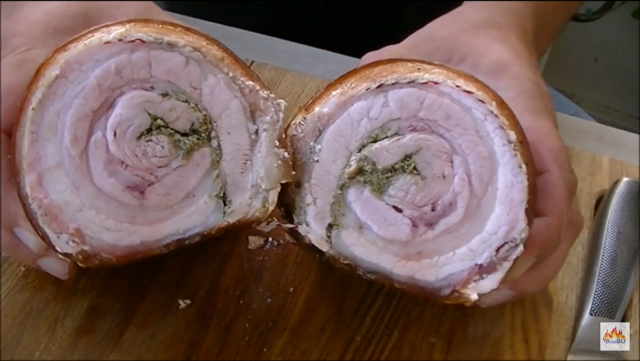 Recept zelf Italiaanse Porchetta maken. How to make Italian Porchetta