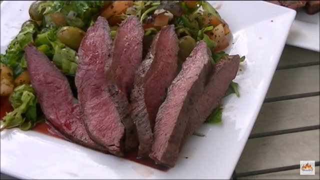hoe maak je een Flat Iron steak, sucade op the bbq / how to butcher and cook Flat Iron steak
