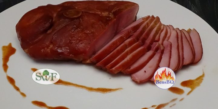 Gerookte Ham, ham steak maken / dry cure smoked leg steak